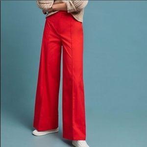 Anthropologie Women's Poplin Wide-Leg Pants